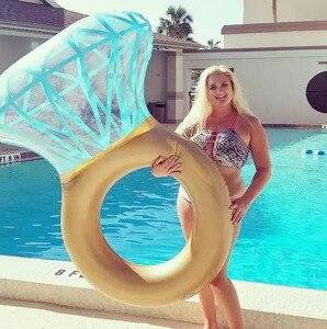 Image 3 - Rooxin 140cm יהלומי מתנפח שחייה מעגל רפסודת בריכה לצוף טבעת שחייה למבוגרים נשים תמונה אבזרי בריכת צעצועי החוף המפלגה