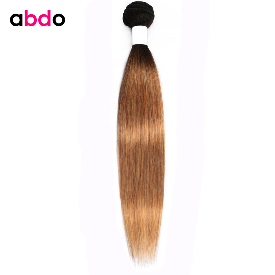 Cheveux abdo 1 3 4 pièces paquets blonds brésiliens faisceaux droits Ombre cheveux humains 1B/27 Non Remy cheveux armure faisceaux 28 pouces