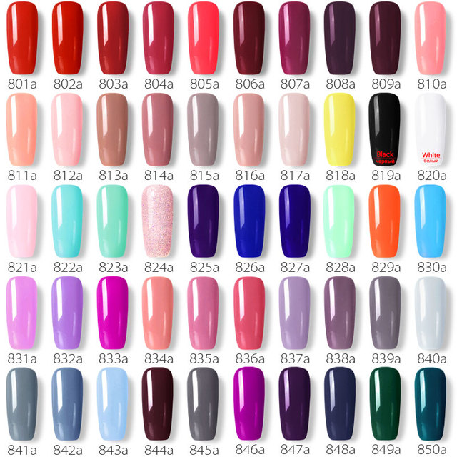 GDCOCO soak off  Base Gel Top Coat Matte Top Gel polish Nail Gel lacquer 8 ml manicure wholesale long lasting Nail color gel 5