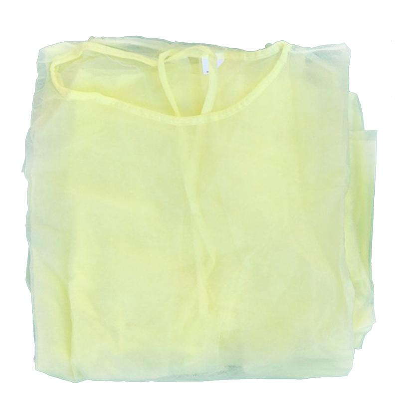 1PC 2PCS Breathable Isolation <font><b>Gowns</b></font> Safety Protection Clothes Nonwoven Coverall Visitation Clothes <font><b>Labour</b></font> Suit image