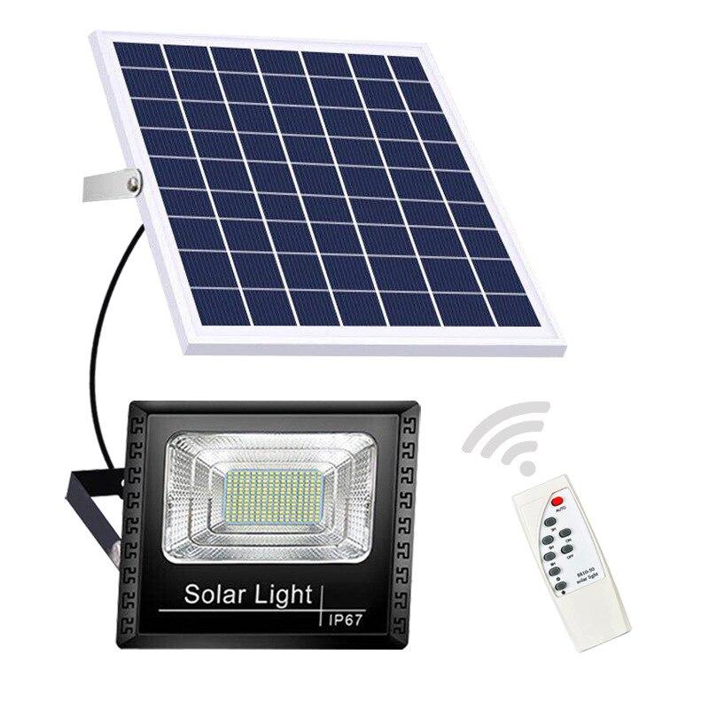 Refletor solar 100 200 300 400 jardim lâmpada de rua à prova dip67 água controle remoto ip67 focos solares exterior