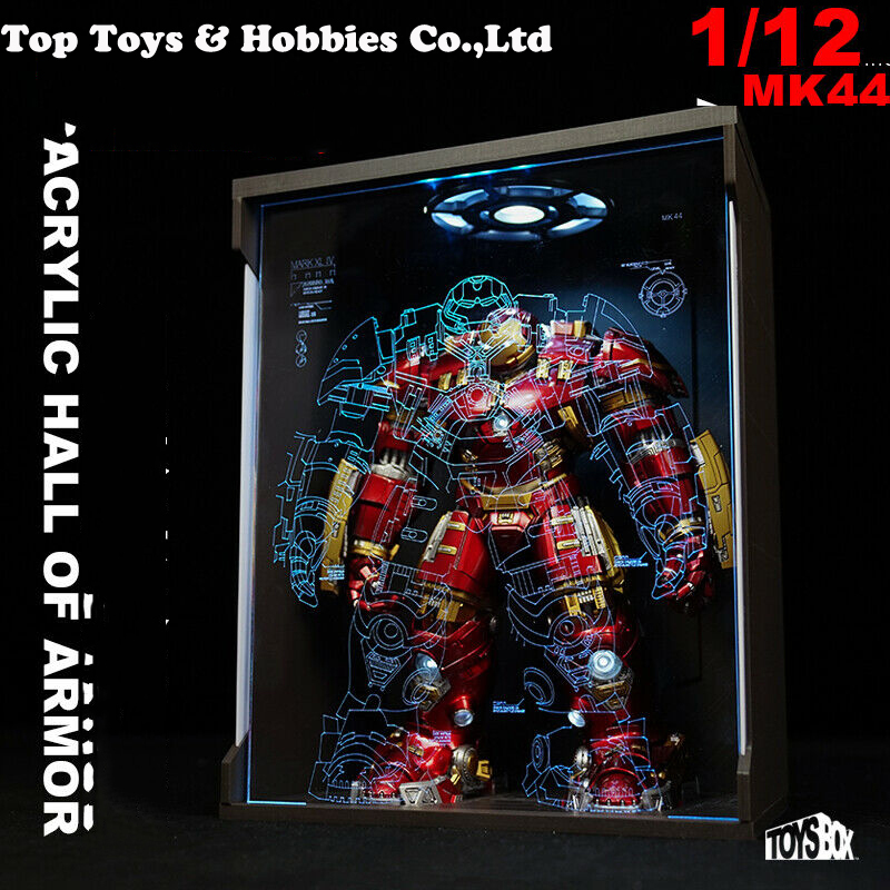 Toys-Box 1//6 Ganeku sealed dustproof hologram 4.0 Display Box Fit MK46 Iron Man