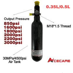 Acecare Пейнтбол Бак 0.35L/0.5L Воздушный бак 4500psi Давление Тип регулятора Pcp Кондор для Pcp аксессуары пневматическая винтовка гПа Airsoft