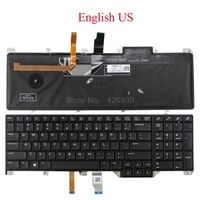 US SP Backlit Keyboard For DELL For Alienware 17 R4 P31E English Spanish 00WN4Y 0WN4Y PK131QB1A00 05PTHT 5PTHT PK131QB2A21 new