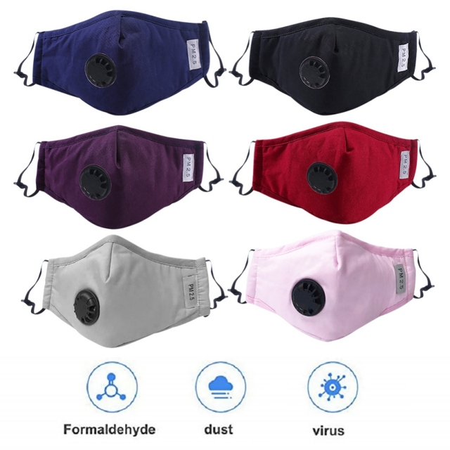 Cotton Anti Haze Anti-dust Mask Activated Carbon Filter Respirator Mouth-muffle For PM 2.5 Dust Protective Mask 1