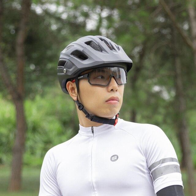 Rockbros photochromic óculos de bicicleta uv400 esportes óculos de sol para homens mulher anti brilho leve caminhadas ciclismo 6