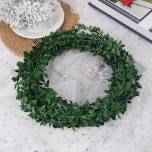 Artificial Green Leaves 7.5M Garland Silk Ivy Vines Rattan Xmas Wedding Decor(China)