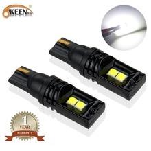 OKEEN 2pcs Ceramics LED T10 w5w Canbus Car Interior Light 3030 168 Instrument Lights Bulb Lamp Dome No Error 12V 6000K