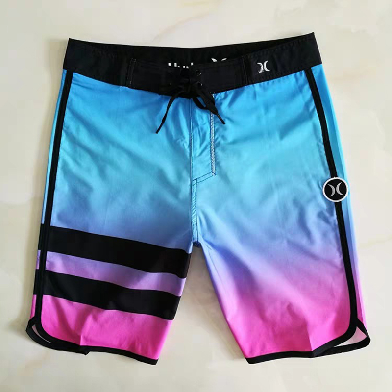 Bermuda Print Swim Beach Board Shorts Plus Size Swimsuit Loose Mens Bathing Suit Trunks Breathable Summer Hurley  Swimwear -40