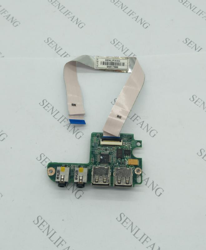Free Shipping For Dell Inspiron 1464 1564 1764 Daughter Board Usb Port Board Audio Board 1764 Y5XYF 0Y5XYF With Cable