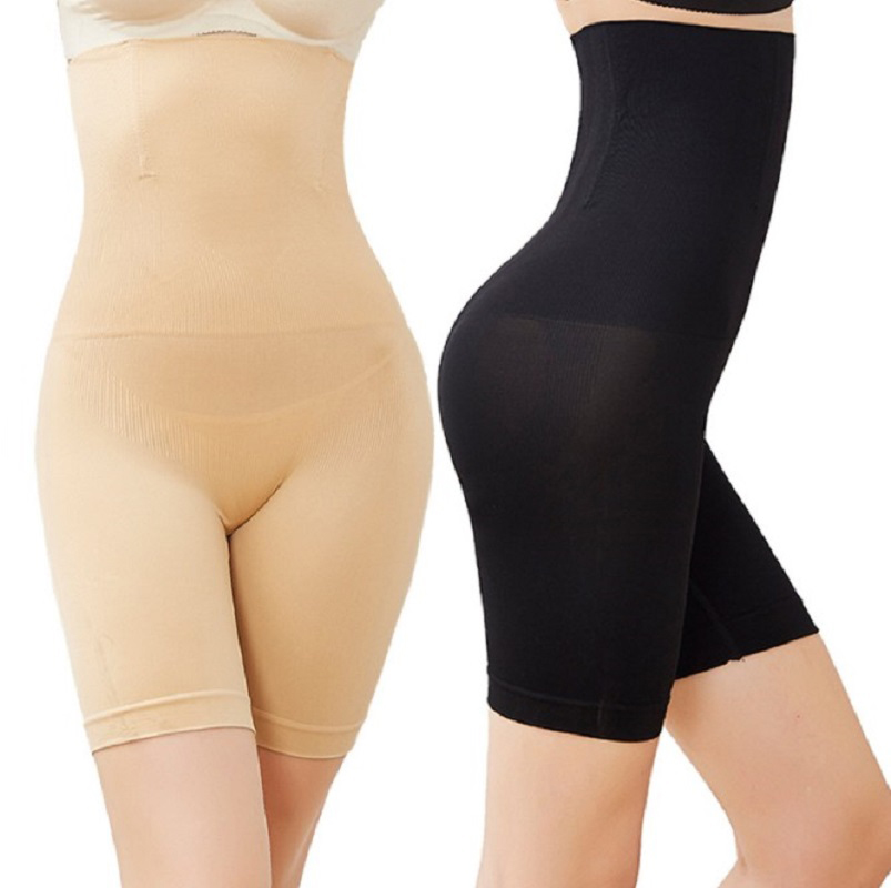 Women Body Shaper Plus Size Belly Safety Pants Tighten Abdominal Seamless Underwear Breathable Shorts Slimming Underpants L-4XL