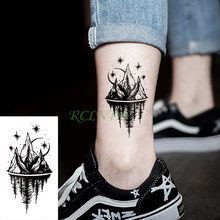 Водостойкие временные тату-наклейки, луна, холм, лес, звезда, флэш-тату, татуаж, боди-арт, руки, ноги для девочек, женщин, мужчин