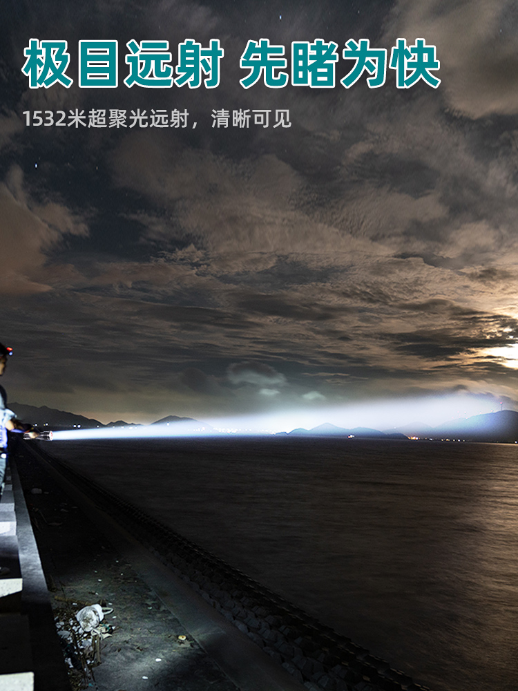 bateria poderosa lanterna recarregavel 02