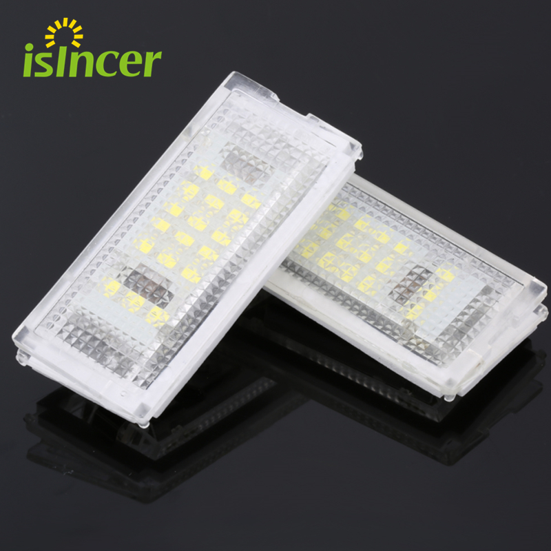 2 Pieces Led License Plate Light Led Canbus Auto Tail Light White LED Bulbs For BMW 3er E46 4D 1998-2003 Car Accessories