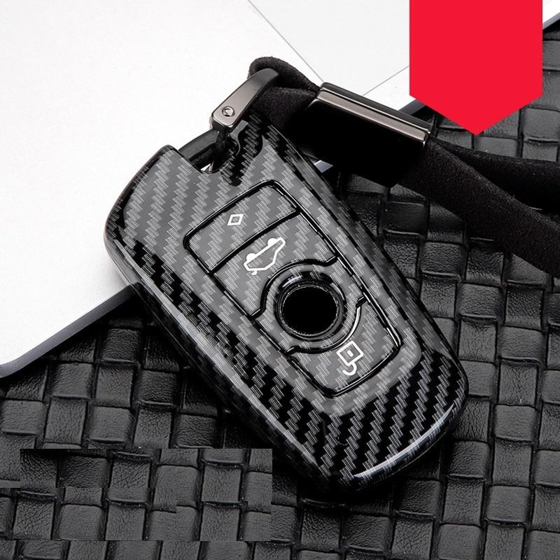 Glossy Carbon fiber ABS Car Key Case Fob Cover For BMW 520 525 f30 f10 F18 118i 320i 1 3 5 7Series X3 X4 M3 M4 M5 E34 E90 E60