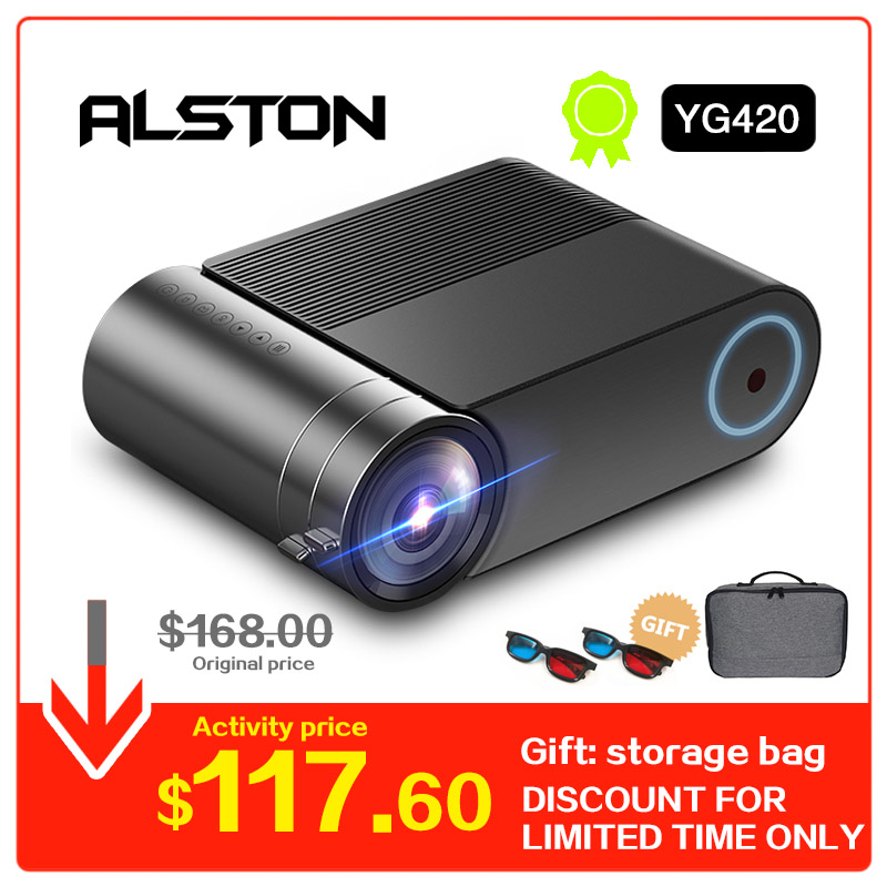 ALSTON YG420 Upgrade 3800 Lumen hd led Projector Home Theater Native 1280x720P HD Portable Video Beamer