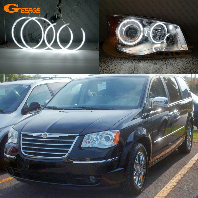 For Chrysler Town Country 2008 2009 2010 2011 2012 2013 2014 2015 2016 Excellent Ultra Bright CCFL Angel Eyes Kit Halo Ring