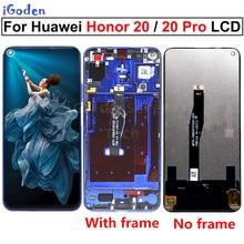 Huawei Honor 20 YAL L21 LCD 터치 스크린 디지타이저 교체 Huawei Honor 20 Pro YAL AL10 YAL L41 LCD
