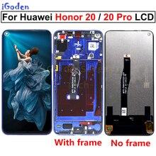 Tela original para huawei honor 20 YAL L21, digitalizador touch screen lcd para huawei honor 20 YAL AL10