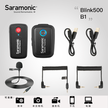 Saramonic Blink 500 Serie B1 B2 B5 B6 2.4GHz Dual-Channel Sistema per Microfono Wireless con Lavalier Blink500 VS RODE wireless go