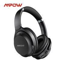 Mpow-auriculares inalámbricos H12 IPO con Bluetooth 8,0, dispositivo de audio con cancelación activa de ruido, 40h de tiempo de reproducción, CVC 5,0, micrófono, para iPhone, Huawei y Xiaomi