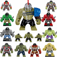 Avengers Endgame Grote Cijfers Hulkbuster Thanos Iron Man Spiderman Batman Venom Carnage Marvel Super Heroes Bouwstenen Speelgoed(China)