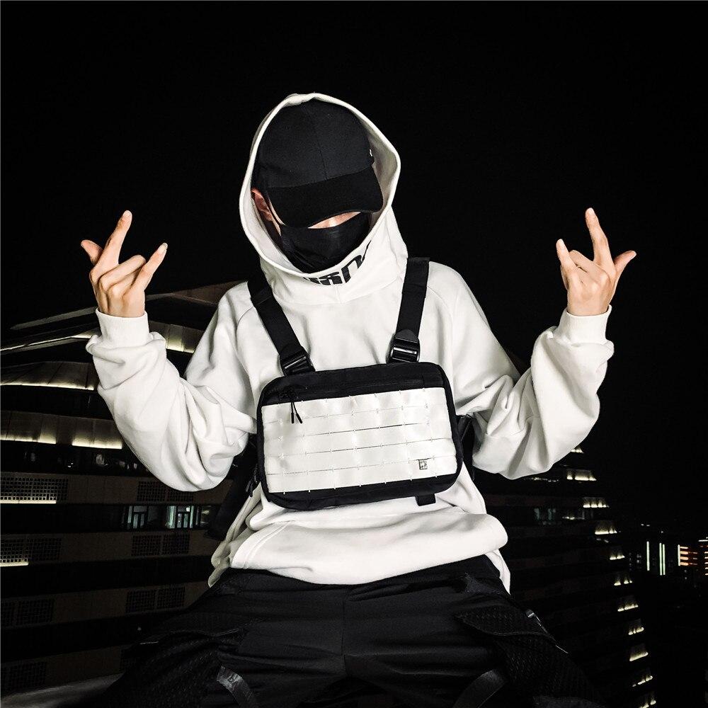 hip-hop colete equipamento de peito sacos de