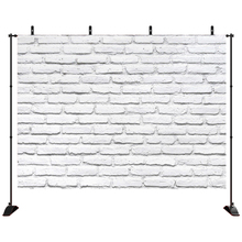 Acejoker Brick Wall White Backdrop Pet Toy Photo Baby Shower Newborn Vinyl Photography Background