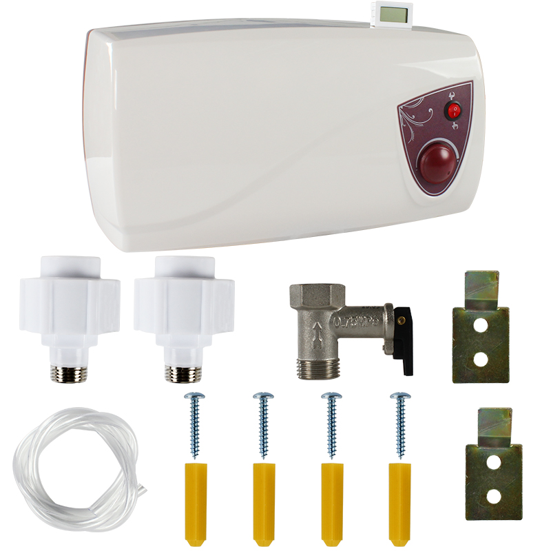 Aquecedor de água com medidor de temperatura da água, 12v para rv, caravana, camper e motocicleta de barco