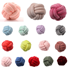 Soft Knot Pillow Ball Cushions Bed Stuffed Pillow Home Decor Cushion Ball Plush Throw Knotted Pillow