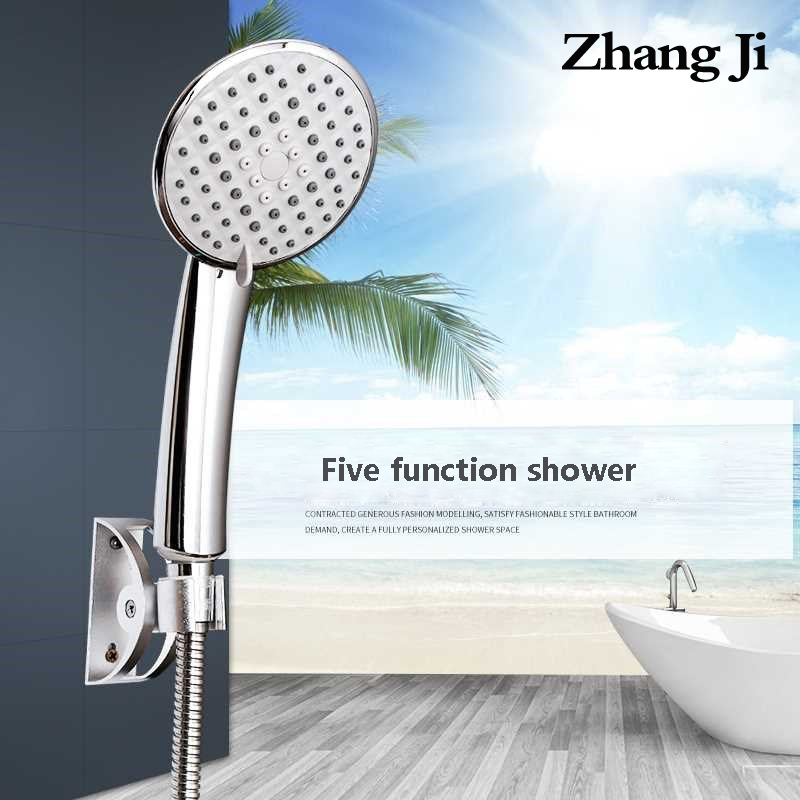 ZhangJi Lotus High Pressure Shower Head 5 Modes Multi-Layer Plated Silicone Holes Spray Nozzle 110cm Large Panel Shower Head