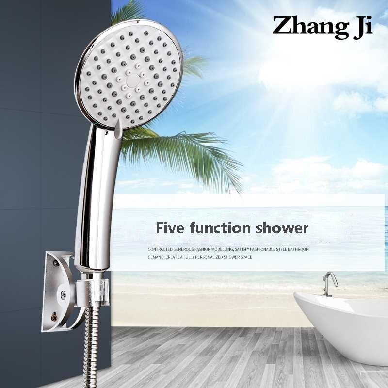 ZhangJi Lotus Hochdruck Dusche Kopf 5 Modi Multi-Schicht überzogene Silikon löcher Spray Düse 110cm Große Panel dusche kopf