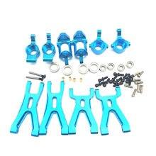 Kit de piezas de asiento delantero y trasero para WLtoys A959 A979 A959B A979B RC, brazo de suspensión de Metal, mejorado