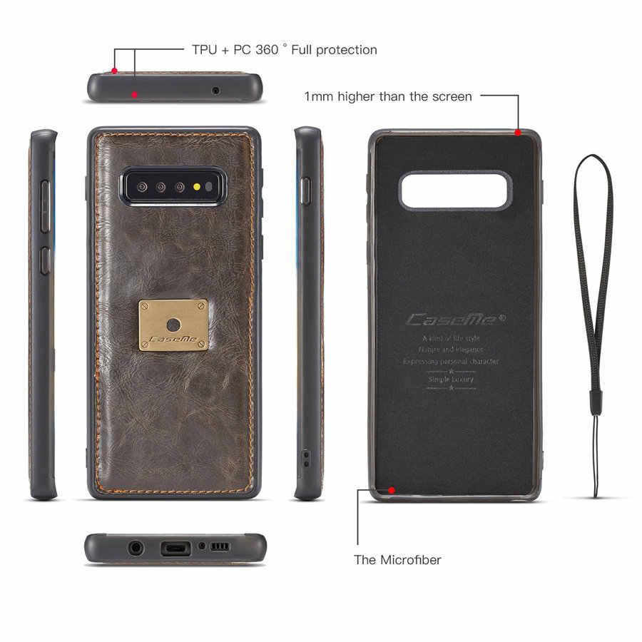 Деловой Чехол-кошелек для телефона Samsung Galaxy S8 S9 S10 Plus, чехол из ТПУ + ПК, Магнитный чехол-кошелек, чехол для телефона Note8 Note9