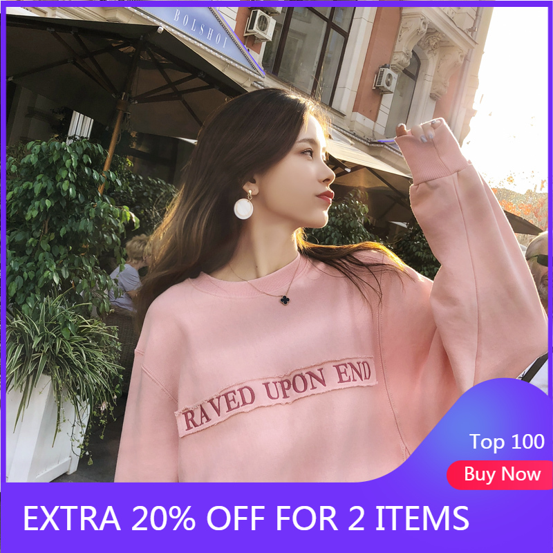 Mishow Women Sweatshirts 2018 New Fashion Long Sleeve Sweatshirt Harajuku Jumper Pullovers Tops Casual Loose Outwear MX18C6265