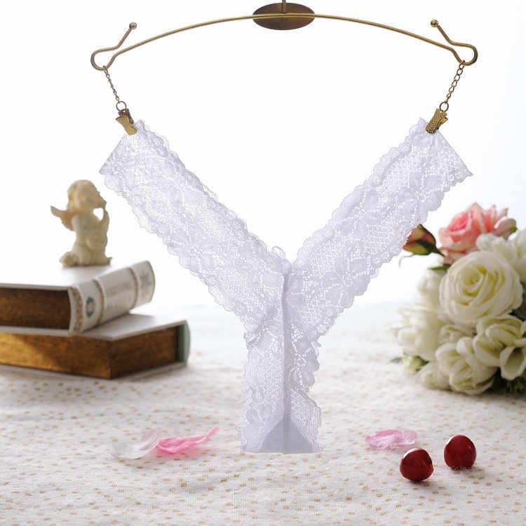 Bragas de encaje para mujer, ropa interior, bragas, tangas, Tanga, WH