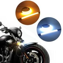DRL Strobe Light Brake Turn Signal Motorcycle Flowing Tail Lamp 6500 k