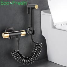 Ручной смеситель для биде ecofresh медный распылитель унитаза