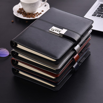 A5 Planner Binder Spiral Notebooks And Journals Diary With Lock Password Agenda Office Bussiness Notebooks School Supplies