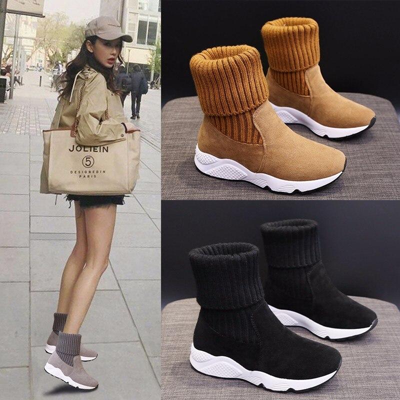 Новые зимние повседневные женские ботинки, женские кроссовки для защиты от холода, теплые зимние ботинки с добавлением хлопка, женские боти...