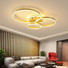 Nordic ouro led anel luz de teto moderna lâmpada do teto para sala estar quarto restaurante interior deco luminárias