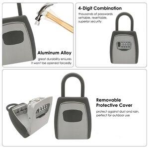 Image 4 - Keys Storage Wall Mounted Aluminum alloy Keys Safe Box  Weatherproof  Lock Outdoor Keys Safe Box Security Organizer Boxes