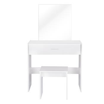 Biały 82cm długość toaletka z dużym lustro do makijażu Vanity stół z opatrunek stołek amp a duże szuflady 1 zestaw tanie i dobre opinie CN (pochodzenie) Meble do sypialni komoda meble do domu