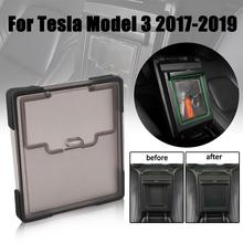 For Tesla Model 3 BlueStar 2017 2018 2019 Accessories Car Central Armrest Storage Box Auto Container Glove Organizer Case Auto car central storage box broadhurst armrest remoulded car glove storage box for toyota rav4 2019 2020 accessories auto styling