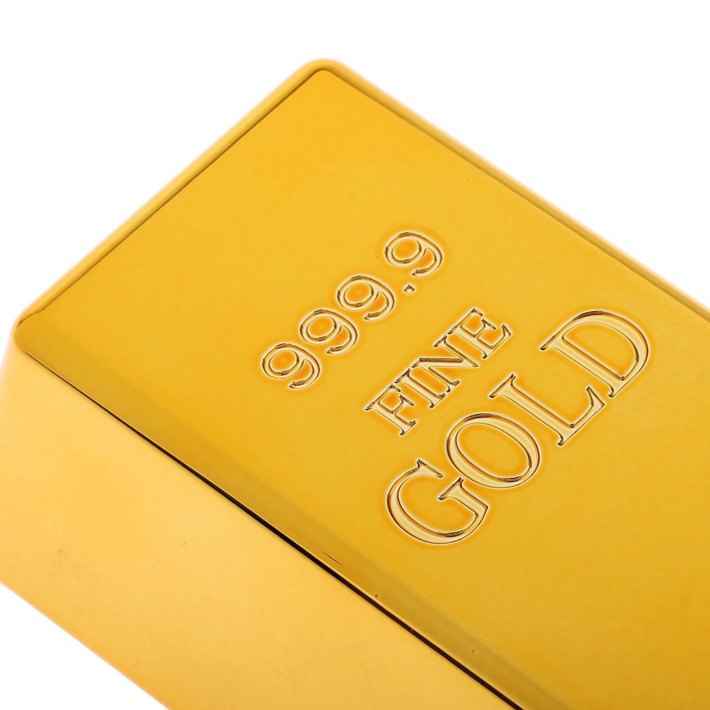 1pcs Fake Gold Bullion Bar Paperweight Door Stop for Childen Kids Toys