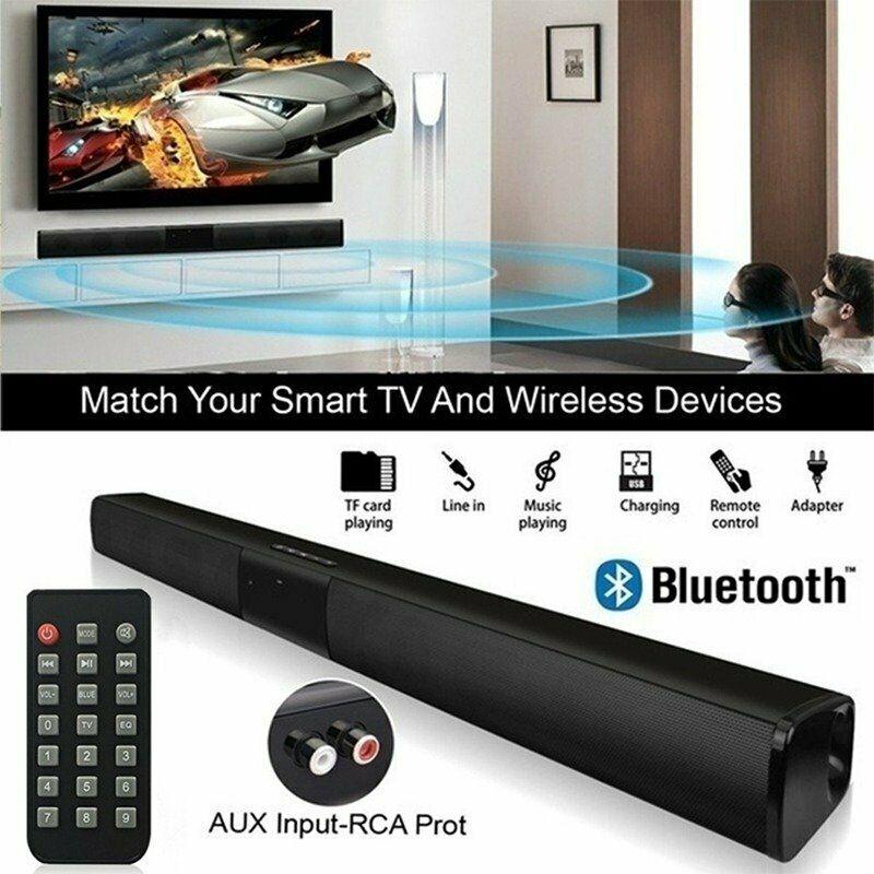 BEESCLOVER Wireless Soundbar With Bluetooth Wireless Bluetooth Sound Bar Speaker System TV Home Theater Soundbar Subwoofer