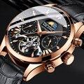 AILANG Топ люксовый бренд Мужские механические часы moon phase многофункциональные турбийон часы для дайвинга Мужские Бизнес Стиль