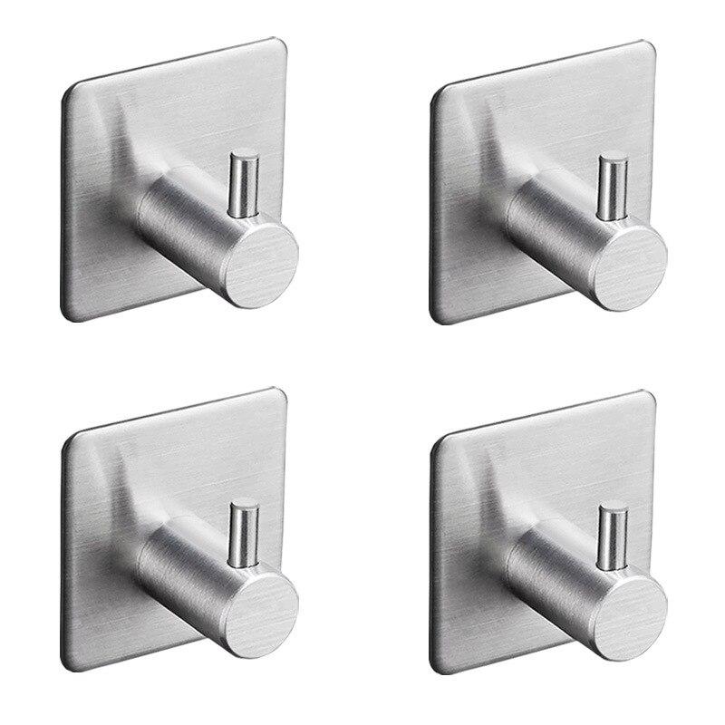 Крючки самоклеящиеся из нержавеющей стали для ванной комнаты, 4 шт./лот, 3 м
