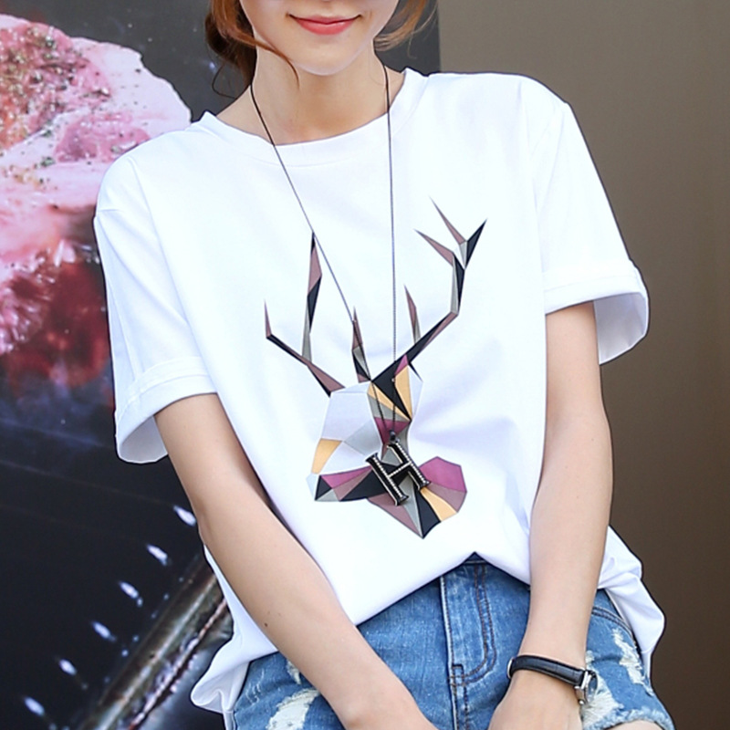 Short Sleeve Summer Floral Mama Gray  Bear T Shirt Casual Female Tee Ladies  Black