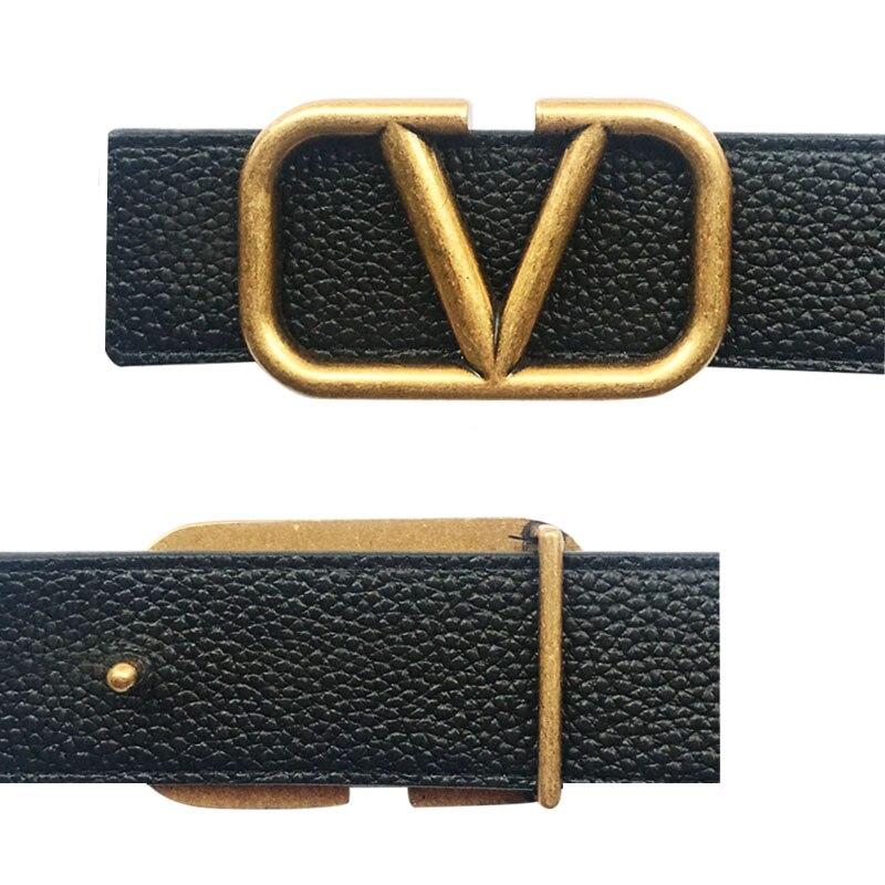 Alphabetic Icon Belt Buckle For Men Handmade Metal Belts Accessories